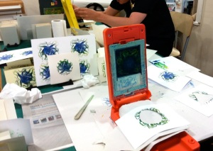 Gocco printing workshop at Shepherds