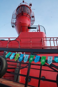 Nautical bunting and LV21's light tower