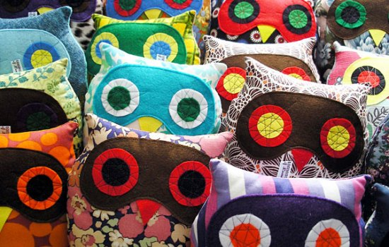 Colourful owl cushions / soft toys