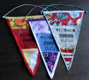 Vintage festival pennants