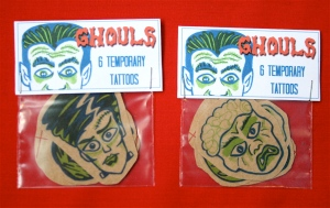 Ghoul temporary tattoos