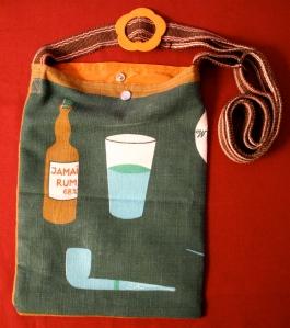 Linen clipper ship bag - back