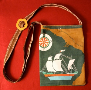 Linen clipper ship bag