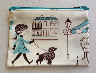 Poodle girl purse