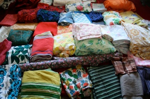 Colourful vintage fabrics