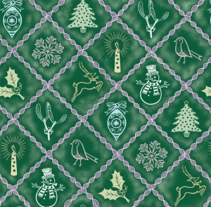 green christmas wrapping paper design