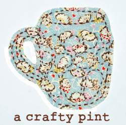 a crafty pint, hand sewn beer mug