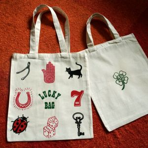 Lucky bag tote and shopping bags by Xtina Lamb