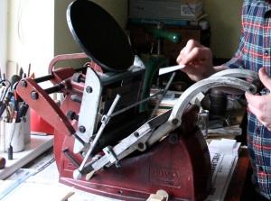 Adana letterpress machine