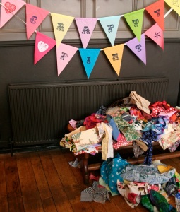 Crafty Pint bunting & fabrics