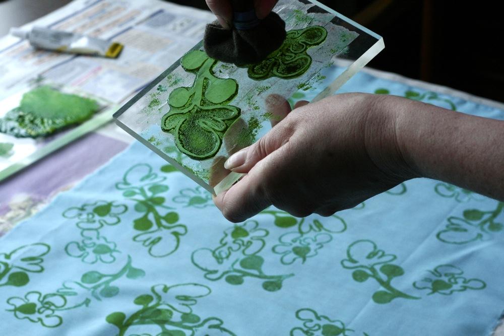 Gocco adana fabric printing workshops seaside sisters for Fabric printing