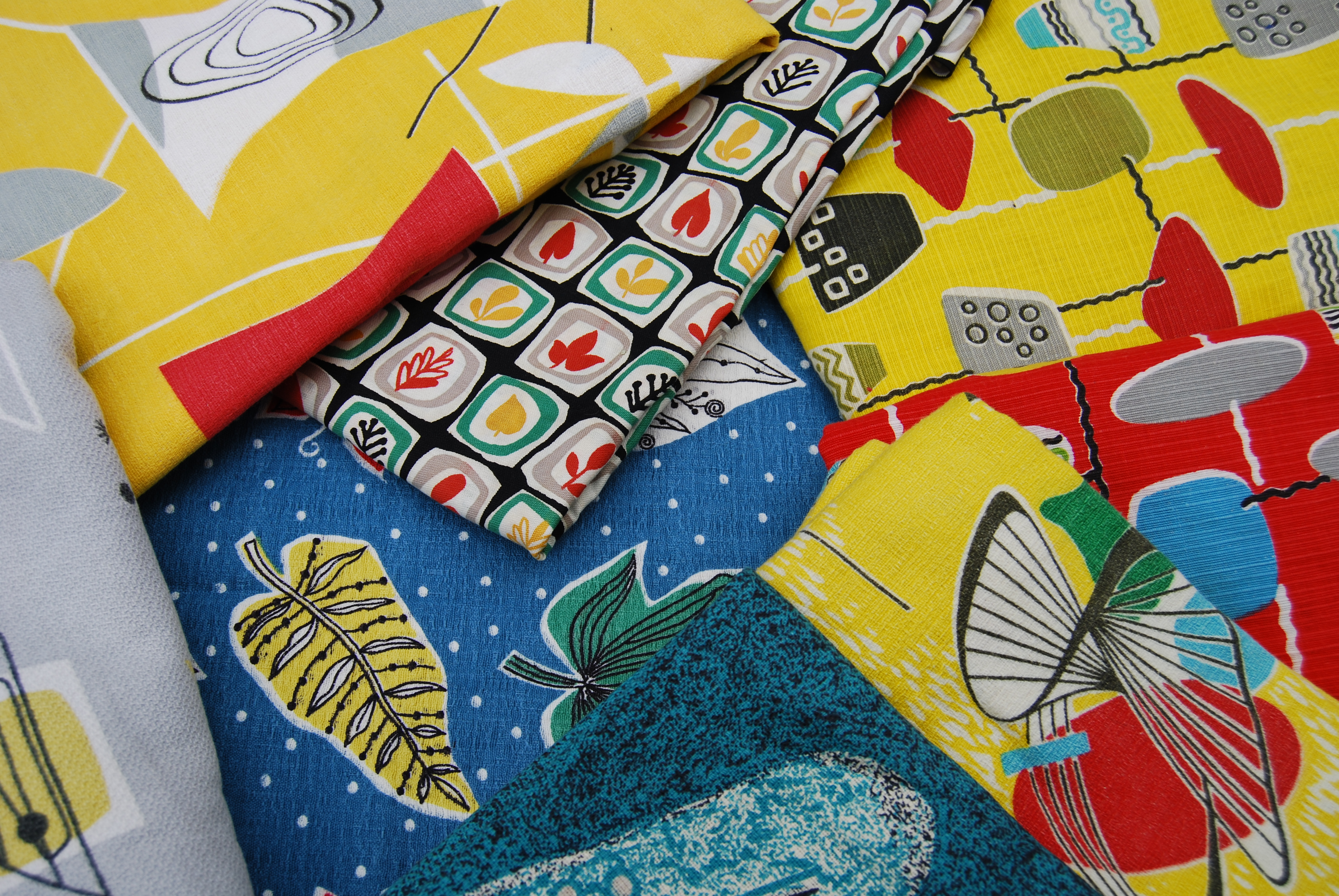 Vintage inspired fabric printing seaside sisters for Fabric printing