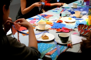 Bunting workshop with Seaside Sisters
