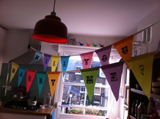 'Will you marry me?' bunting