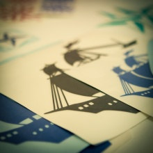 Ship pictures in adhesive vinyl