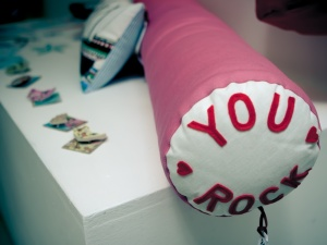 You Rock cushion in Points of the Compass show